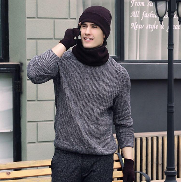 scarf gloves hat set women men winter scarf hat set winter hat scarf and glove set smart touch screen texting gloves set (14)