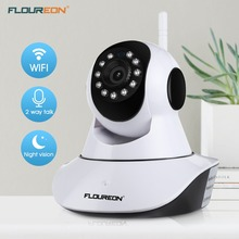 Floureon 720P Wireless IP camera 1.0MP WLAN H.264 Security CCTV Pan/Tile Night vision WiFi camera Baby Monitor Network