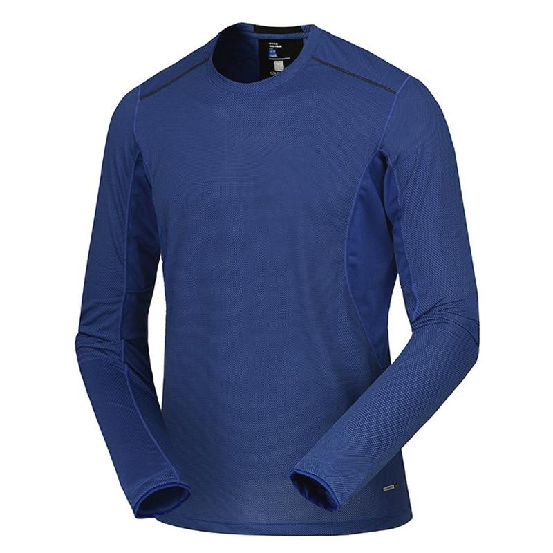 Spring Men Elastic Quick Dry T-shirt Male Outdoor Tees Long Sleeve Shirt Sport Breathable Soft Fabric Trekking Hiking Shirt6