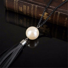 Buy Jewelry Red Imitation Pearl Feminino Tassel Accessories Simple necklaces & pendants Women Sweater Chain Statement Necklace for $1.12 in AliExpress store