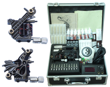 body piercing kit completed gun set permanent makeup tattoo machine kit with tattoo supply box