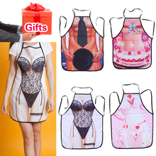 3PCS Sexy Cooking Aprons Funny Novelty BBQ Party Apron Naked Men Women Lovely Rude Cheeky Kitchen Cooking Apron Multicolor