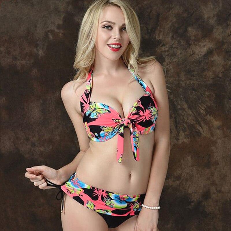 Sports Swimsuits Womens Swimwear Plus Size Large Cup Bikinis Bathing Suits 3XL-7XL Biquines Plus Size Bikini Push Up Swim Suits<br><br>Aliexpress