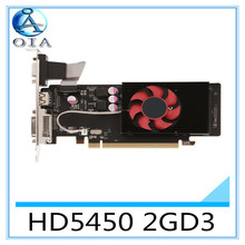 New Original Desktop Graphics Card HD5450 2GD3 625/1066Mhz 2G/64bit desktop computer independent  game  card  free shipping