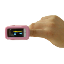 OLED Pink Fingertip Pulse Oximeter Blood Oxygen SpO2 Heart Rate Monitor 4 Colors Oximetro Health Care Products