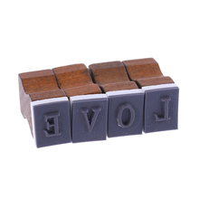30pcs New Romantic Capital Letter Vintage Wooden Craft Box Alphabet Stamp Rubber