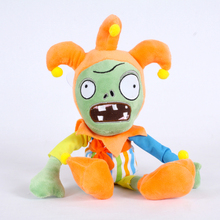 Newest 30cm PVZ Plant Vs Zombies Plush Toys Clown Zombie Plush Toy Dolls For Kids Gift(China)