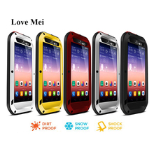 Love Mei Metal Aluminum Case For Huawei Ascend P7 Cover Powerful Armor Shockproof Waterproof Case Huawei P7 Shell Fundas Housing