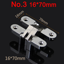 Premium 100PCS/LOT Invisible Concealed Cross Door Hinge Stainless Steel Hidden Hinge Bearing 20KG With Screw For Folding Door(China)