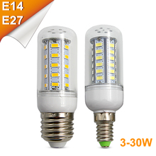 LED Corn Bulbs E27 E14 9W 12W 15W 18W 20W 25W 30W Bulb Lamp AC220V Ultra Bright SMD5730 LED Corn Bulb Light For Chandelier Light