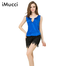 iMucci Summer Sexy Rayon Tank Camis V-Neck Solid Short Women Tops Casual Plus Size Tank Top 12 Colors Size S-3XL(China)