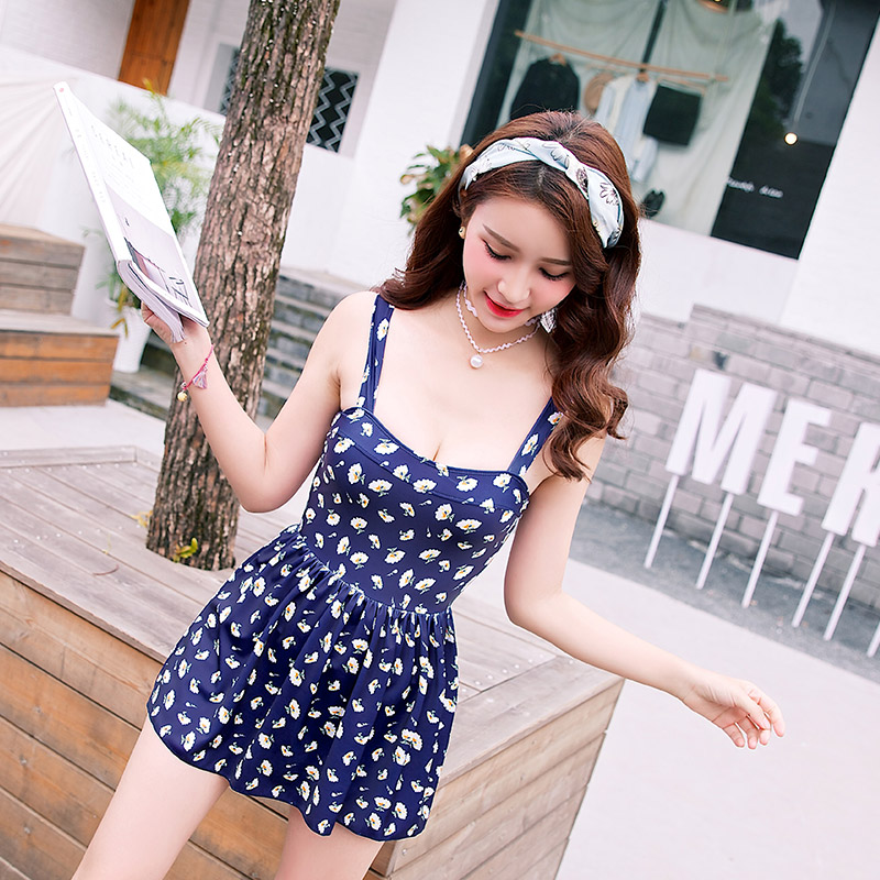 Halter Swimsuit Dress Floral Pattern Bikini Elastic Band Beachwear Bathing Suit Women Biquinis Feminino Sexy Cute Swimming Suits<br>