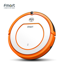 Fmart Robotic Vacuum Cleaner For Home Appliances Wet and Dry Mop Sweep Side Brushs Vacuums Remote Control SelfCharge(China)