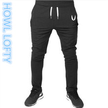 2016 New Mens Joggers Fitness TrainingRunningJogging Pants Men Brand 2017  Bottoms Bodybuilding Sweatpants  HOWL LOFTY M-XXL