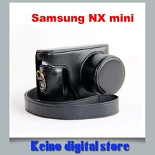 4 Colors PU Leather Camera Case Bag for Sa&sung NX Mini Digital Camera 9-27mm Lens +Strap