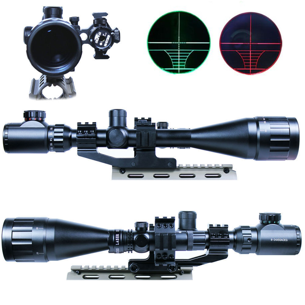 6-24x50 Hunting Riflescopes Red/Green Mil-Dot Pistola Sight Scope Illuminated Sniper Tactical Optics Airsoft Air Gun Rifle Scope<br><br>Aliexpress
