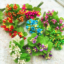 10 PCS (3 cm/flower) simulation artificial stamens berries bouquets of flowers/clip wedding gift boxes decorated DIY wreath(China)