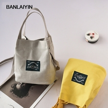 Nice New Spring And Summer Shoulder Bag Canvas Women Handbags Bucket Ladies Hand Bags Casual Small Female Bag