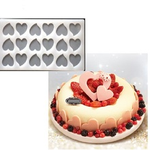 Cake Tool Cute Heart Shape Baking Mold Chocolate Silicone Embossing Die Sugar Arts Cake Decorating Tools Chocolate Mould Stencil(China)