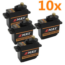 Buy 10PCS EMAX Servo motor 2kg Turque ES08MA II Metal Gear JR Servo RC Helicopter RC Plane RC Airplane for $43.78 in AliExpress store