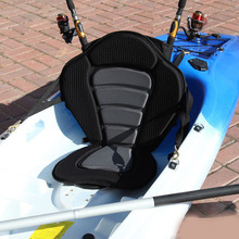 Deluxe Padded Kayak / Boat Seat Soft and Antiskid Padded Base High Backrest with Detachable Storage Bag