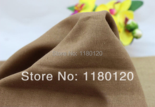 diy flax coffee color linen clothing fabric light coffee table linen fabric textile 50*140cm sold by half a meter
