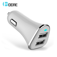 Original USB Car Charger Dual USB Charger Output 2.4A Fast Charging Cell Phone Car-Chargers Travel Adapter Cigar Lighter(China)