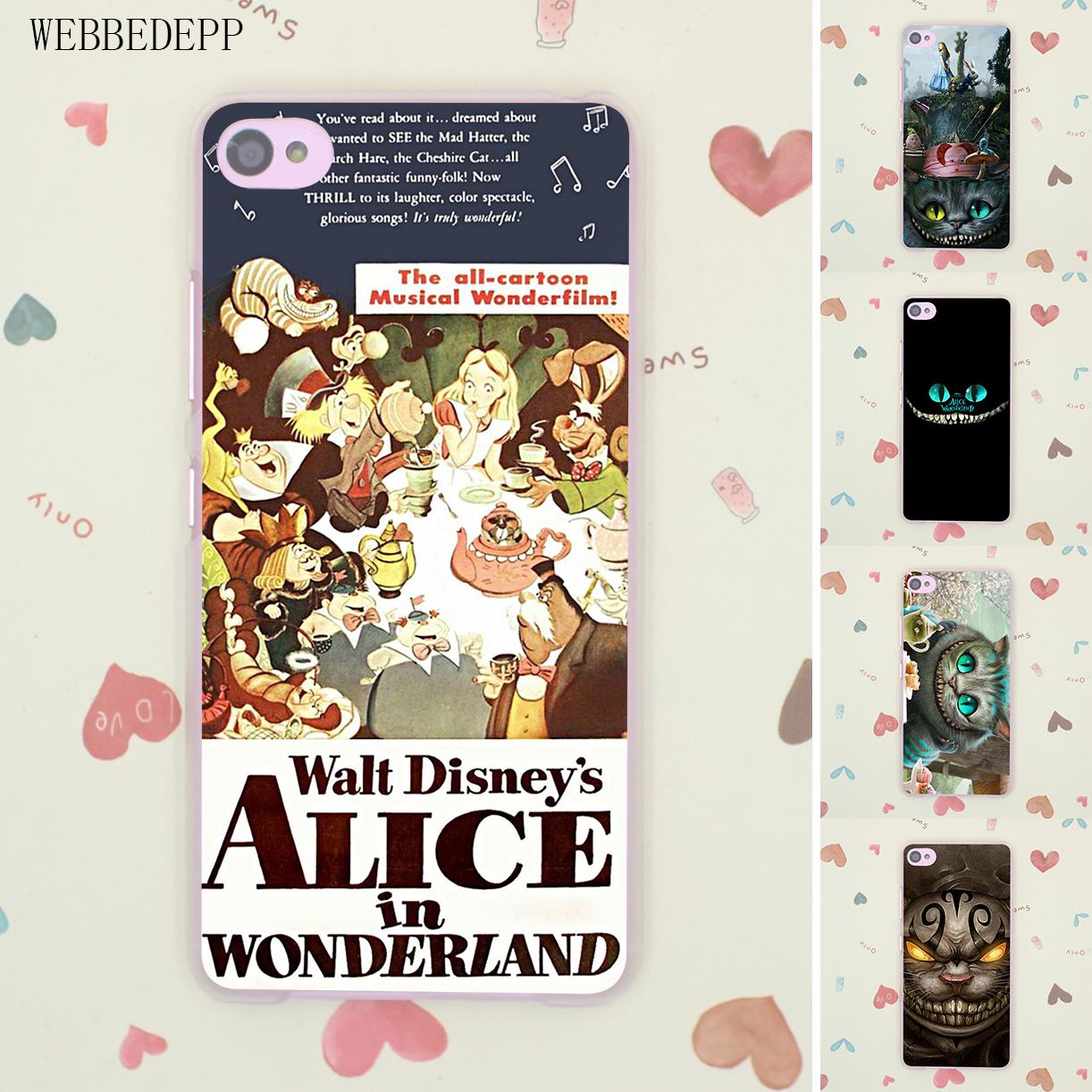 Design poster k3 - Alice In Wonderland Retro Movie Poster Hard Case For Lenovo A2010 A5000 K3 K4 K5 K6 Note S60 S850 S90 X3 Lite Vibe P1 Z2