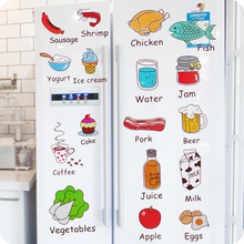Creative Cartoon Stickers Kitchen Cabinet Door Fridge Magnets Refrigerator Decorate Fruit Food Remove Wall Stickers Kids Toy