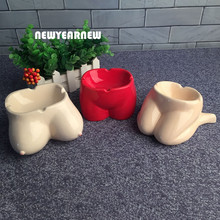 NEWYEARNEW Funny Ashtray Creative Women Ceramic Ashtray Car Ornament Home Furnishing Decoration Valentine Gifts Free shipping(China)