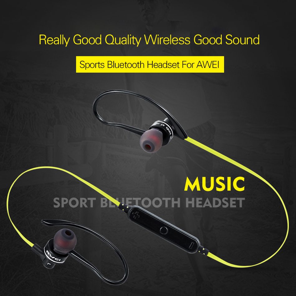 Awei A990BL Sport Stereo Wireless Bluetooth Earphone Sweatproof Noise Isolation Headset Earbuds With Mic For Mobile Phone