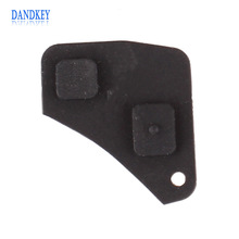 Dandkey Replacement 2 Button Remote Key Fob Repair Kit Switch Rubber Pad For Toyota RAV4 Corolla Camry Prado Black