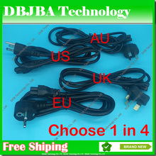 Wholesale US UK EU AU Plug 3Pin AC Power Cord Cable For Dell Lenovo IBM Samsung ASUS HP SONY Acer Fujitsu Toshiba laptop adapter