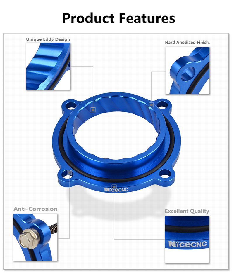 NICECNC Throttle Body Spacer Air Intake Manifold Extender Adaptor Kit For Jeep Grand Cherokee For VW Routan 3.6L V6 2011-2014