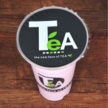 disposable bubble tea /milk tea /plastic cup sealing film for diameter 90cm/95cm cup,TeA pattern cup sealing film(China)
