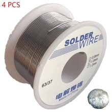 4PCS 100g 1.0mm Tin Solder Welding Wires Rosin Contain Low Melting Piont for Home Appliances Sn 35% Pb 65% Flux 1.8% HXS05x4