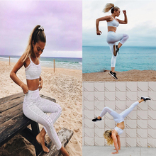 REDshark 2017 Digital black and white stripes printed hip stretch high waist leggings Jogging Running Trousers Gym