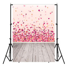 150X90cm Pink Valentine's Day Vinyl Studio Backdrop Love Theme Photography Background Cloth Photo Props Wedding Party Favor