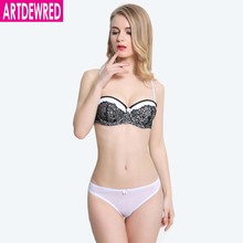 A B C Cup Size 34-40 Intimates Push up Bra brief sets Brand Women Embroidery Bra Set Sexy Lingerie Pink Floral Underwear Set