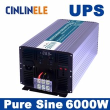 Universal inverter UPS+Charger 6000W Pure Sine Wave Inverter CLP6000A DC 12V 24V 48V to AC 110V 220V 3000w Surge Power 6000W