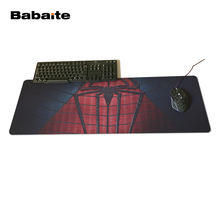 Babaite 2017 Mouse Pad Large Gaming Mouse Pad Locking Edge Mouse Mat Speed Version for Spider Man Wallpaper Mousepad 400x900x2mm(China)