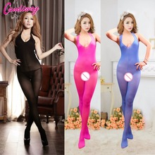 Buy Hot Sexy Lingerie Hot Body stockings Sexy Men's Body Pantyhose Open Crotch Tight Stockings Transparent Pantyhose Sexy Costumes