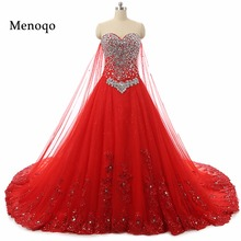 Buy Elegant Red Ball Gown Wedding Dresses Real Sample Sexy Sweetheart Beaded Applique 2017 Wedding Dresses Lace Back Bridal Gowns for $132.00 in AliExpress store