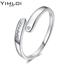 New Arrival Silver Color Infinity Ring with Shiny Austrian Zircon Crystal Fashion Jewelry Adjustable Forever Ring Wholesale R072