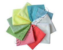 Sunland 10pcs 12x12Inch Kitchen Dish Cloth With Poly Scour Side Kitchen Dish Towels Cleaning Rag - Assorted Color(China)