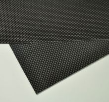 100mmX250mmX0.3mm 100% Carbon Fiber plate panel sheet 3K plain Weave Glossy(China)