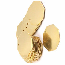 8pc.. Raw Brass Hexagon tag. Stamping Blanks .  sz(30x0.80mm) --yN521