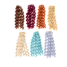 15cm X 100cm Natural Color Noodle Curly Doll Wigs Hair For 1/3 1/4 1/6 Dolls