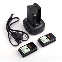 Charging Charger Dock Base With 2X 4800mAh Rechargeable Gamepad Controller Battery Charger For Xbox 360 Battery Charger