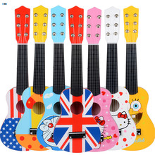2017 new style 21 inch Creative Children Musical Instruments Playing Cartoon Wooden Guitar Toys